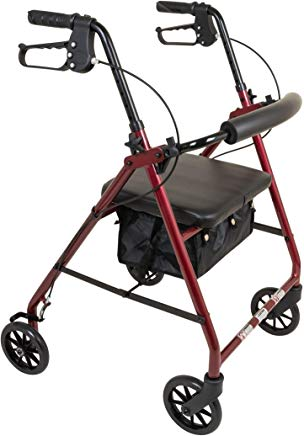 ProBasics Aluminum Rollator Walker With Seat  6