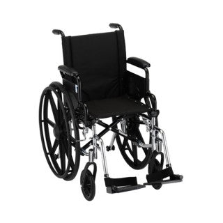 Nova Hammertone Wheelchair 16 Inch Lightweight With Flip Back Detachable Arms & Swing Away Footre