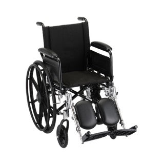 Nova Hammertone Wheelchair 16 Inch Lightweight With Flip Back Detachable Arms & Elevating Legrests