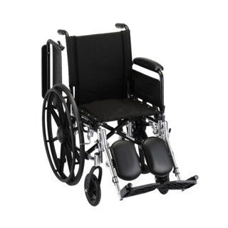 Nova Hammertone Wheelchair 16 Inch Lightweight With Flip Back Full Arms & Elevating Legrests