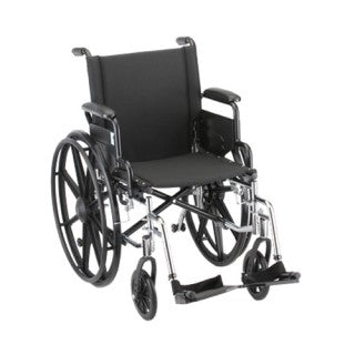 Nova Hammertone Wheelchair 18 Inch Lightweight With Flip Back Detachable Arms & Swing Away Footrests