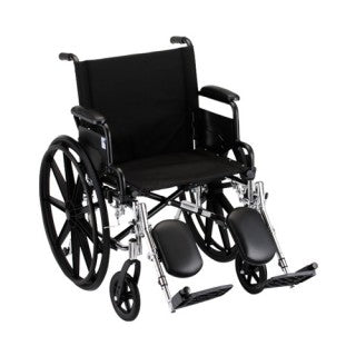 Nova Hammertone Wheelchair 18 Inch Lightweight With Flip Back Detachable Arms & Elevating Legrests