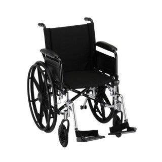 Nova Hammertome Wheelchair 18 Inch With Flip Back Full Arms & Swing Away Footrests