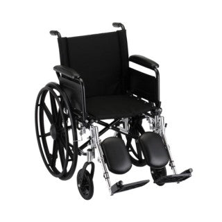 Nova Hammertone Wheelchair 18 Inch Lightweight With Flip Back Full Arms & Elevating Leg Rests