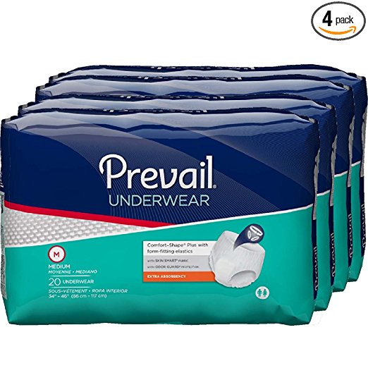Prevail Extra Absorbency Underwear, Sold By Case Prevail Extra Absorbency Underwear, Sold By Case Adult Briefs Prevail - Americare Medical Supply