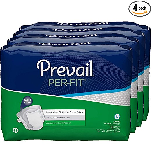 Prevail Per-Fit Protective Underwear, Sold By Case