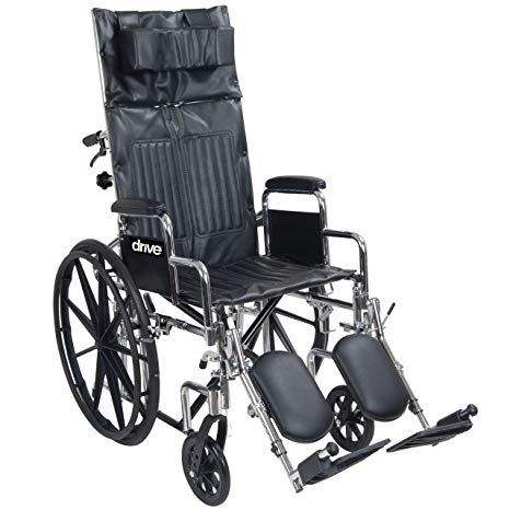 Drive Chrome Sport Full-Reclining Wheelchair Drive Chrome Sport Full-Reclining Wheelchair Reclining Wheelchair Drive - Americare Medical Supply