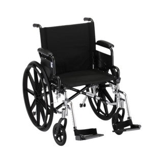 Nova Hammertone Wheelchair 20 Inch Lightweight With With Flip Back Detachable Arms & Swing Away Footrests