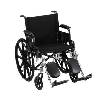 Nova Hammertone Wheelchair 20 Inch Lightweight With Flip Back Detachable Arms & Elevating Leg Rests
