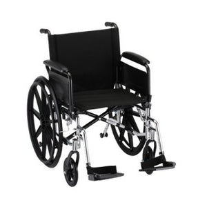 Nova Hammertone Wheelchair 20 Inch Lightweight With Flip Back Full Arms & Swing Away Footrests Nova Hammertone Wheelchair 20 Inch Lightweight With Flip Back Full Arms & Swing Away Footrests Wheelchairs Nova - Americare Medical Supply