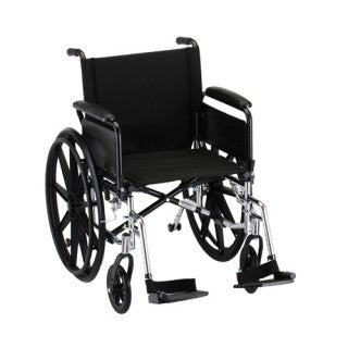 Nova Hammertone Wheelchair 20 Inch Lightweight With Flip Back Full Arms & Swing Away Footrests