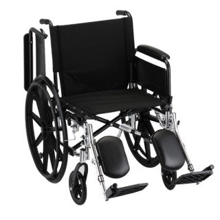 Nova Hammertone Wheelchair 20 Inch Lightweight With Flip Back Full Arms & Elevating Leg Rests