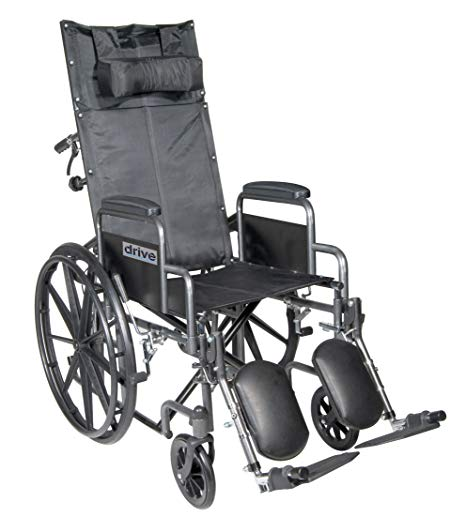 Drive Silver Sport Full-Reclining Wheelchair Drive Silver Sport Full-Reclining Wheelchair Reclining Wheelchair Drive - Americare Medical Supply