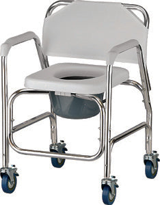Nova Deluxe Shower Chair and Commode with Wheels Nova Deluxe Shower Chair and Commode with Wheels Rolling Shower Chair Nova - Americare Medical Supply