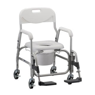 Nova Bath- Shower Chair and Commode with Padded Seat & Swingaway Footrest Nova Bath- Shower Chair and Commode with Padded Seat & Swingaway Footrest Rolling Shower Commode Nova - Americare Medical Supply