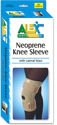Alex Orthopedic Neoprene Knee Sleeve With Lateral Stays Alex Orthopedic Neoprene Knee Sleeve With Lateral Stays Knee Support Alex - Americare Medical Supply