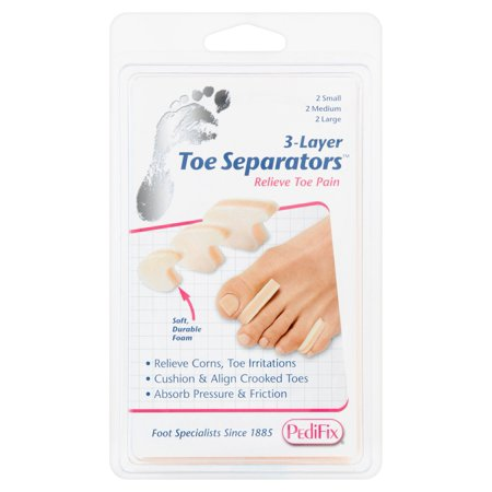 PediFix 3-Layer Toe Separators - P280 Mix