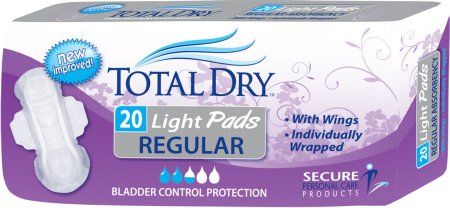 Total Dry Light Pads Regular 20 pack