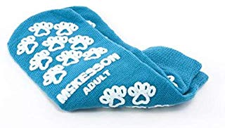 Mckesson TERRIES SLIPPER SOCKS SINGLE IMPRING ADULT TEAL