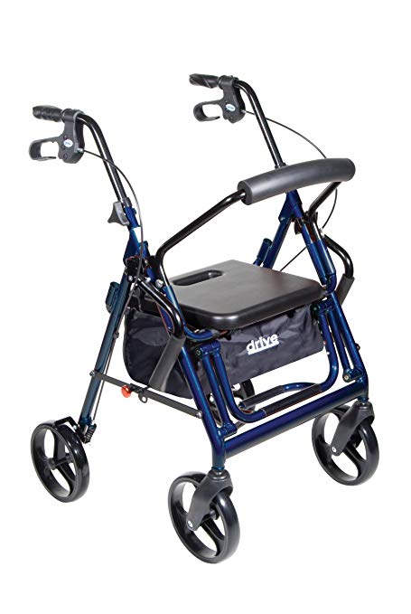 Drive Medical Duet Dual Function Transport Wheelchair Walker Rollator Drive Medical Duet Dual Function Transport Wheelchair Walker Rollator Rollators Drive Medical - Americare Medical Supply