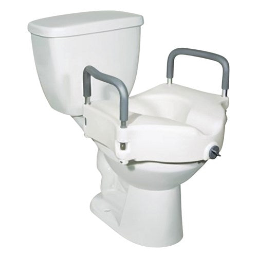 Drive 2-in-1 Locking, Raised Toilet Seat with Tool-free Removable Arms Drive 2-in-1 Locking, Raised Toilet Seat with Tool-free Removable Arms Raised Toilet Seats Drive - Americare Medical Supply