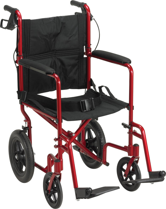 Drive Lightweight Expedition Aluminum Transport Chair Drive Lightweight Expedition Aluminum Transport Chair Transport Wheelchairs Drive - Americare Medical Supply