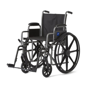 Medline Standard Wheelchair w/ Detachable Arms 18""