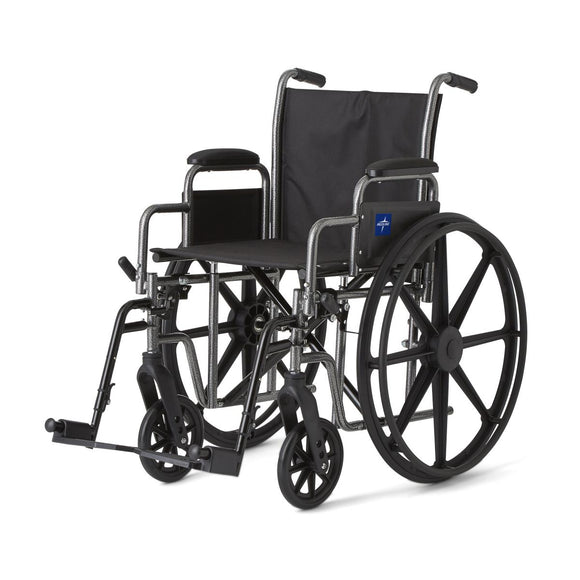 Medline Standard Wheelchair w/ Detachable Arms 18