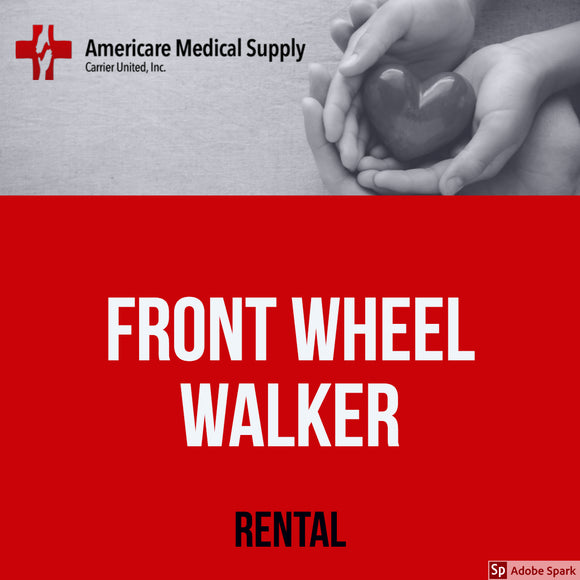 Front Wheel Walker Front Wheel Walker Medical Rentals Americare Medical Supply - Americare Medical Supply