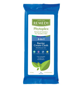 "Medline Remedy Phytoplex 4 in 1 Barrier Cream Cloth 8 x 8"" 8 pack"
