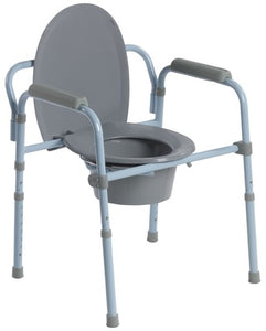 Drive Folding Steel Commode Drive Folding Steel Commode Commode Drive - Americare Medical Supply