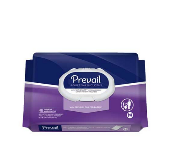 Prevail Adult Washcloths Prevail Adult Washcloths Disposable Washcloths Prevail - Americare Medical Supply