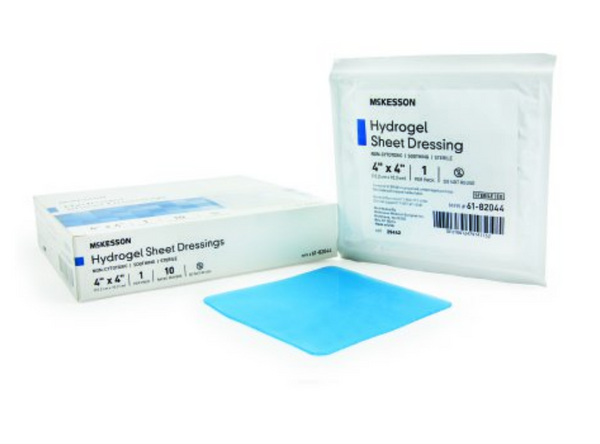 McKesson Hydrogel Dressing 4 X 4 Inch Square Sterile McKesson Hydrogel Dressing 4 X 4 Inch Square Sterile Hydrogels McKesson - Americare Medical Supply