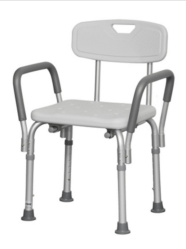 Alex Bench With Back & Removable Padded Armrests Alex Bench With Back & Removable Padded Armrests Bath Benches Alex - Americare Medical Supply