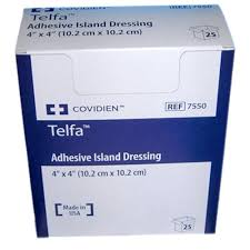 TelfaAdhesive Island Dressing Sold by each -asst sizes TelfaAdhesive Island Dressing Sold by each -asst sizes Dressings Covidien - Americare Medical Supply