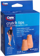 Carex Tan Crutch Tips - 2 Pack