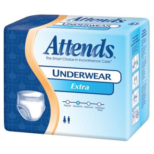 Attends Absorbent Underwear - Moderate Absorbency Attends Absorbent Underwear - Moderate Absorbency Pull-On Briefs Attends - Americare Medical Supply