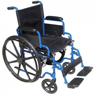 Drive Blue Streak Wheelchair With Flip Back Desk Arms Drive Blue Streak Wheelchair With Flip Back Desk Arms Wheelchairs Drive - Americare Medical Supply