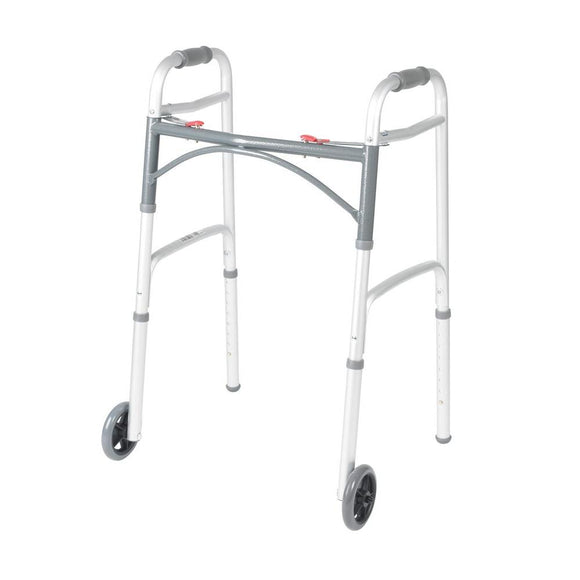 Alex Orthopedic Junior Dual Button Folding Walker With 5