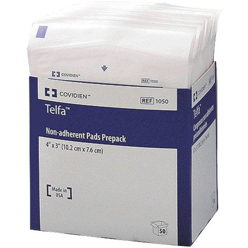 "Covidien Telfa Non-adherent Pads Prepacks 4""x3"" Item#1050 Covidien Telfa Non-adherent Pads Prepacks 4""x3"" Item#1050 Non-adherent Pads Covidien - Americare Medical Supply"