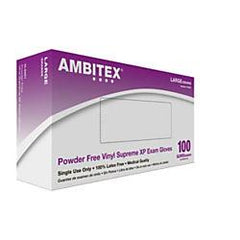 Ambitex International Powder-Free Stretch Vinyl Exam Gloves