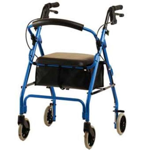 Nova Medical Products GetGo Classic 4202C Rolling Walker, Red