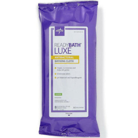 Meddling Ready Bath Luxe Antibacterial Bathing Cloth Meddling Ready Bath Luxe Antibacterial Bathing Cloth Washcloths medline - Americare Medical Supply