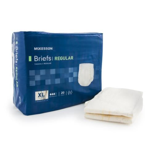 McKesson Regular Incontinent Briefs - Moderate Absorbency McKesson Regular Incontinent Briefs - Moderate Absorbency Fitted Tab Briefs McKesson - Americare Medical Supply