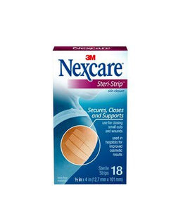 "3M Nexcare Steri-Strip 1/4""x4"" 30 per box 3M Nexcare Steri-Strip 1/4""x4"" 30 per box Steri-Strips 3M - Americare Medical Supply"