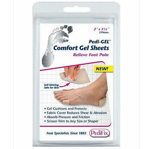 PediFix Pedi-gel Comfort Gel Sheets, 2-Count