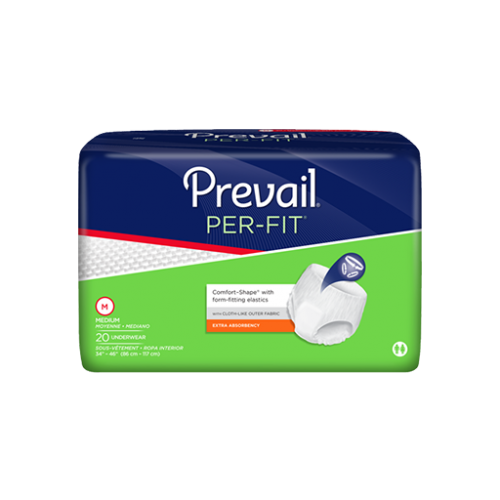 Prevail Per-Fit Protective Underwear Prevail Per-Fit Protective Underwear Adult Disposable Underwear Prevail - Americare Medical Supply