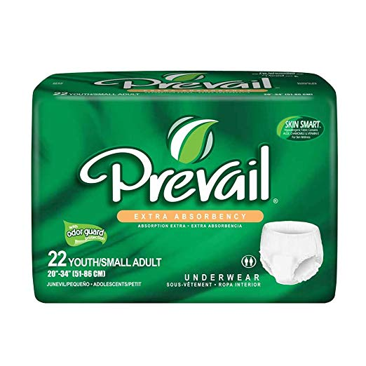 Prevail Extra Absorbency Underwear, Youth/Small Adult, 22-Count (Pack )