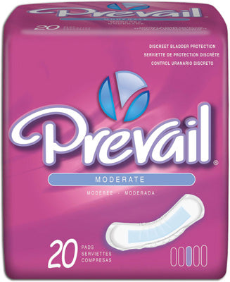 Prevail Bladder Control Moderate Pad package of 20