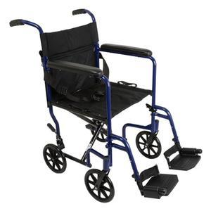 Alex Transport Chair Lightweight 19inch assorted colors Alex Transport Chair Lightweight 19inch assorted colors Wheelchairs Alex - Americare Medical Supply